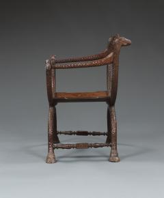 An Unusual Carved Rosewood Chair - 573704