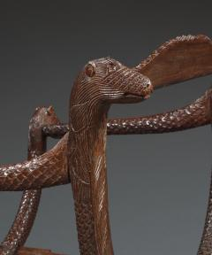 An Unusual Carved Rosewood Chair - 573705