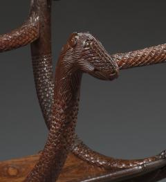 An Unusual Carved Rosewood Chair - 573707
