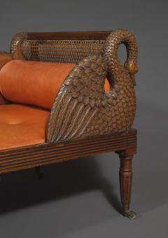 An Unusual Carved Walnut Daybed Related To A Design By Thomas Hope - 1224958
