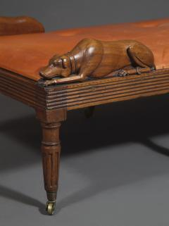 An Unusual Carved Walnut Daybed Related To A Design By Thomas Hope - 1224960