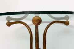 An Unusual Faux Bois Painted Metal Glass Top Table Marked Thonet - 40621