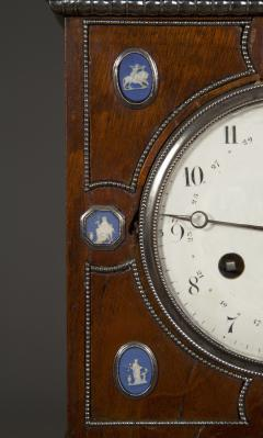 An Unusual Mahogany Steel And Wedgwood Mounted Mantel Clock - 1352074