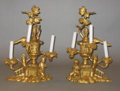 An Unusually Large Pair of Carved and Gilded Three Light Candelabra - 120647
