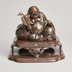 An antique Japanese bronze Okimono of Hotei - 1273917