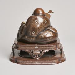 An antique Japanese bronze Okimono of Hotei - 1273918