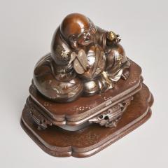 An antique Japanese bronze Okimono of Hotei - 1273919