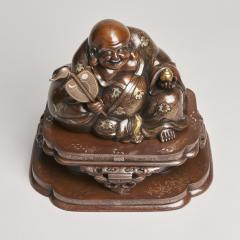 An antique Japanese bronze Okimono of Hotei - 1273920