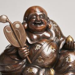 An antique Japanese bronze Okimono of Hotei - 1273921