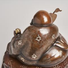 An antique Japanese bronze Okimono of Hotei - 1273922