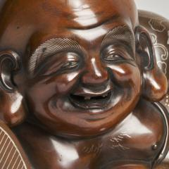 An antique Japanese bronze Okimono of Hotei - 1273923