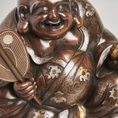 An antique Japanese bronze Okimono of Hotei - 1273925
