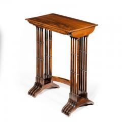 An attractive nest of Regency rosewood quartetto tables - 1173155