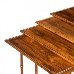 An attractive nest of Regency rosewood quartetto tables - 1173156