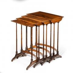 An attractive nest of Regency rosewood quartetto tables - 1173157