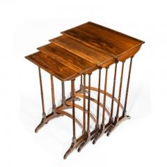 An attractive nest of Regency rosewood quartetto tables - 1173158
