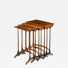 An attractive nest of Regency rosewood quartetto tables - 1173448