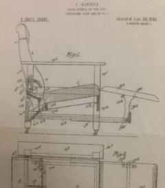 An early 20th century mahogany Glenisters patent reclining gaming - 774636