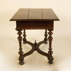An early Italian turned legs walnut table one drawer circa 1850 - 2129179