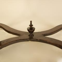 An early Italian turned legs walnut table one drawer circa 1850 - 2129186