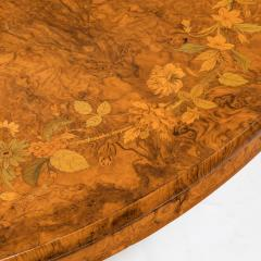 An early Victorian walnut marquetry centre table - 822850