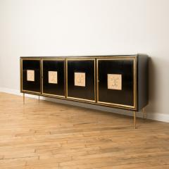 An ebonized French sideboard with marble top circa 1950 - 2033592