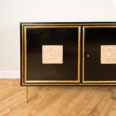 An ebonized French sideboard with marble top circa 1950 - 2033595