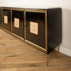 An ebonized French sideboard with marble top circa 1950 - 2033604