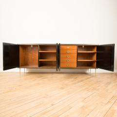 An ebonized French sideboard with marble top circa 1950 - 2033630
