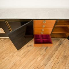 An ebonized French sideboard with marble top circa 1950 - 2033635