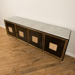 An ebonized French sideboard with marble top circa 1950 - 2033652
