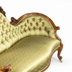 An elaborate Victorian shaped walnut sofa - 1846411