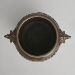 An exquisite Japanese Bronze and multi metal vase depicting a Samurai Archer - 1811020