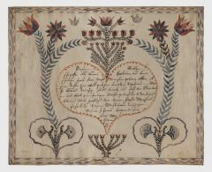 An extraordinary group of seven fraktur from Bucks County PA - 1467194