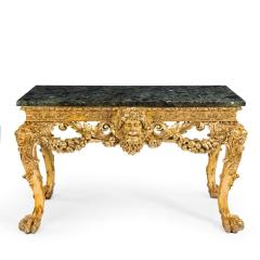 An imposing Victorian gilt wood console table in the manner of William Kent - 1793591