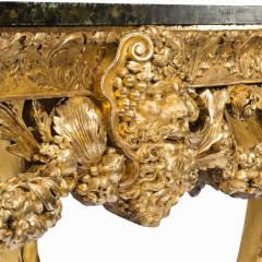An imposing Victorian gilt wood console table in the manner of William Kent - 1793593