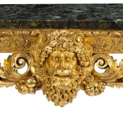 An imposing Victorian gilt wood console table in the manner of William Kent - 1793595