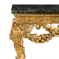 An imposing Victorian gilt wood console table in the manner of William Kent - 1793597