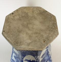 An impressive 18th Century Chien Lung blue and white vase 51cms  - 1530591