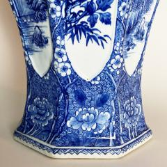 An impressive 18th Century Chien Lung blue and white vase 51cms  - 1530592