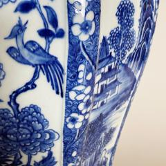 An impressive 18th Century Chien Lung blue and white vase 51cms  - 1530593