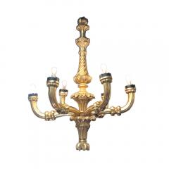 An impressive late 19th C hand carved Italian giltwood chandelier - 2033558