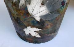 An impressively large American raku ceramic art pottery vase signed - 2131031