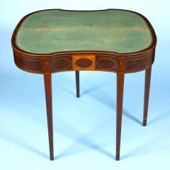 An inlaid Philadelphia card table with original baize fabric - 1356130