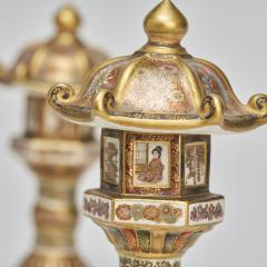 An ornamental pair of miniature 19th Century Japanese Satsuma lanterns - 1582478