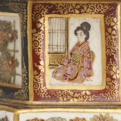 An ornamental pair of miniature 19th Century Japanese Satsuma lanterns - 1582479