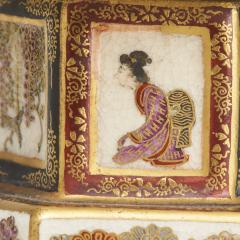 An ornamental pair of miniature 19th Century Japanese Satsuma lanterns - 1582480
