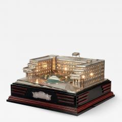 An unusual Indian silver model of the Ramghandram hostel - 863873
