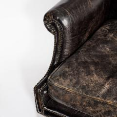 An unusual Regency mahogany sabre leg arm chair - 790546
