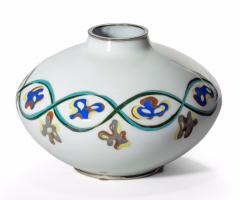 An unusual Showa period cloisonn vase - 1163145